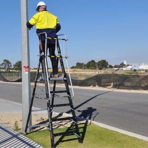 Little Giant Stadium Ladder Safety Cage Platform